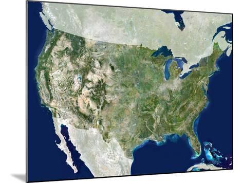 USA, Satellite Image-PLANETOBSERVER-Mounted Photographic Print