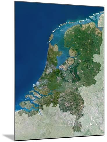 The Netherlands, Satellite Image-PLANETOBSERVER-Mounted Photographic Print