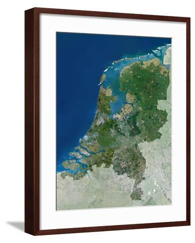 The Netherlands, Satellite Image-PLANETOBSERVER-Framed Art Print