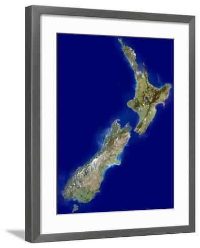 New Zealand, Satellite Image-PLANETOBSERVER-Framed Art Print