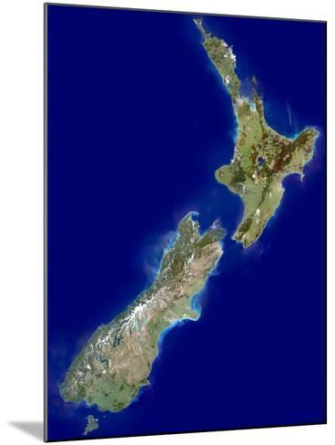 New Zealand, Satellite Image-PLANETOBSERVER-Mounted Photographic Print