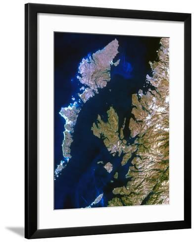 True-colour Satellite Image of Northwest Scotland-PLANETOBSERVER-Framed Art Print