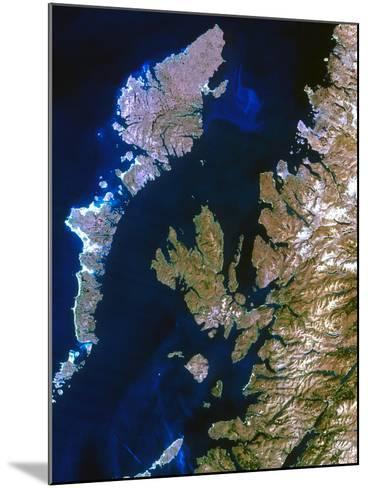 True-colour Satellite Image of Northwest Scotland-PLANETOBSERVER-Mounted Photographic Print