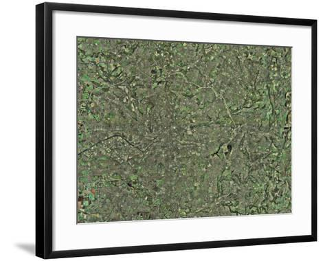 Manchester, Aerial View-Getmapping Plc-Framed Art Print