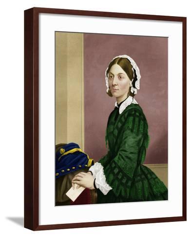 Florence Nightingale, Nursing Pioneer-Maria Platt-Evans-Framed Art Print