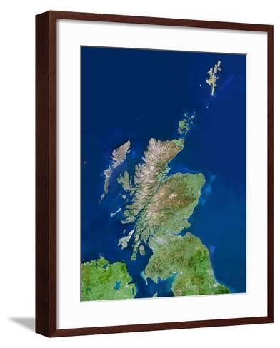 Scotland, UK, Satellite Image-PLANETOBSERVER-Framed Art Print