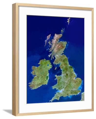 British Isles, Satellite Image-PLANETOBSERVER-Framed Art Print