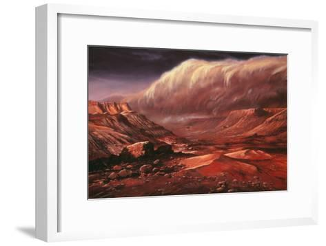 Artist's Impression of the Martian Surface-Ludek Pesek-Framed Art Print