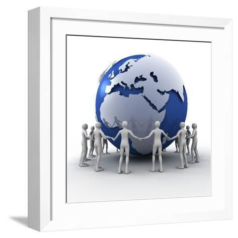 Global Communication-PASIEKA-Framed Art Print