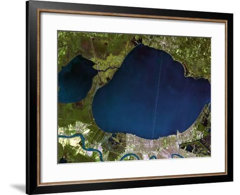 New Orleans Before Hurricane Katrina-PLANETOBSERVER-Framed Art Print