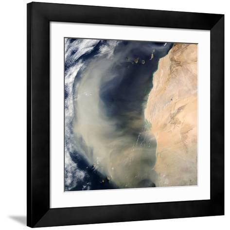 Dust Storm Over the Cape Verde Islands-PLANETOBSERVER-Framed Art Print