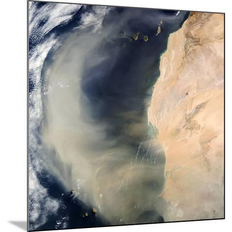 Dust Storm Over the Cape Verde Islands-PLANETOBSERVER-Mounted Photographic Print