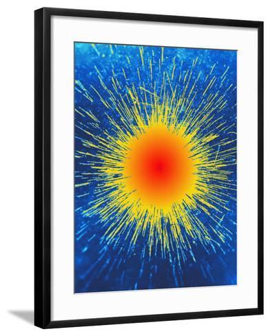 Radioactive Emission From Radium-C. Powell-Framed Art Print