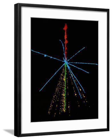 Emulsion Photo of Cosmic Ray Event-C. Powell-Framed Art Print