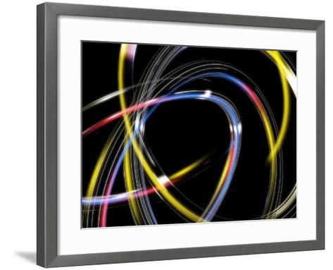Circles, Abstract Computer Artwork-PASIEKA-Framed Art Print