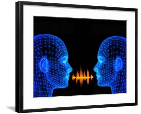 Speech, Conceptual Artwork-PASIEKA-Framed Art Print