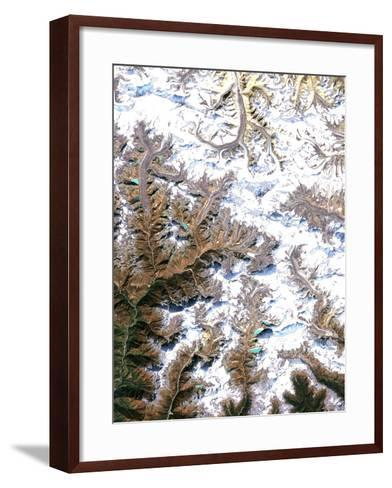 Mount Everest, Satellite Image-PLANETOBSERVER-Framed Art Print