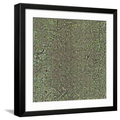 Manchester, UK, Aerial Image-Getmapping Plc-Framed Art Print