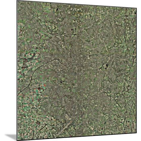 Manchester, UK, Aerial Image-Getmapping Plc-Mounted Photographic Print