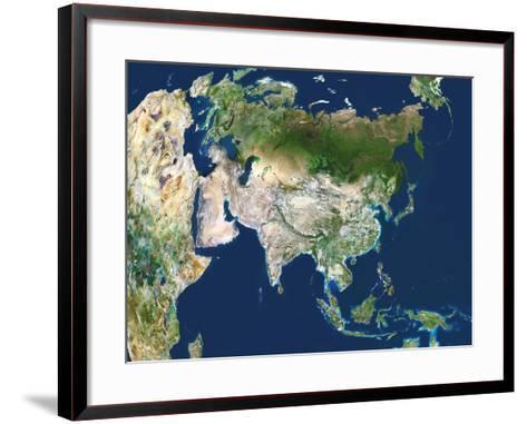 Asia, Satellite Image-PLANETOBSERVER-Framed Art Print