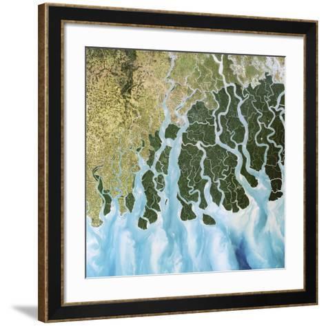 Ganges River Delta, India-PLANETOBSERVER-Framed Art Print
