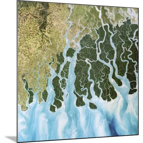 Ganges River Delta, India-PLANETOBSERVER-Mounted Photographic Print