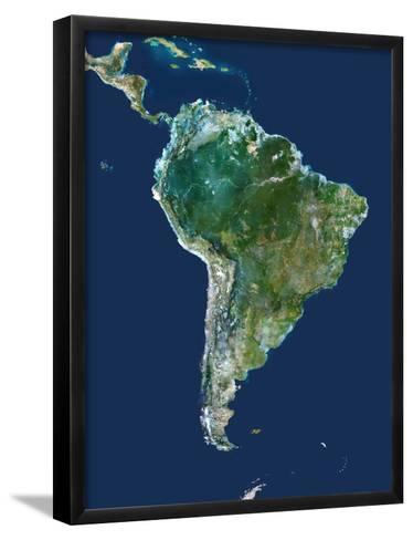 South America, Satellite Image-PLANETOBSERVER-Framed Art Print