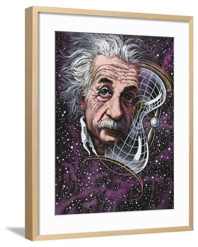Albert Einstein, German Physicist-Bill Sanderson-Framed Art Print
