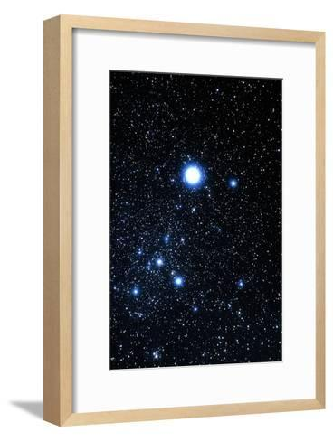 Constellation Canis Major with Halo Effect-John Sanford-Framed Art Print