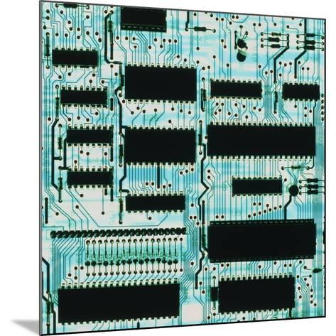 Circuit Board with Microprocessors, Etc.-PASIEKA-Mounted Photographic Print
