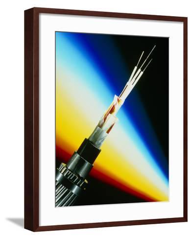 Fibre Optic Cable Used for Telephones-PASIEKA-Framed Art Print