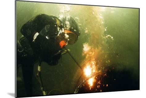 Welding Underwater-Peter Scoones-Mounted Photographic Print