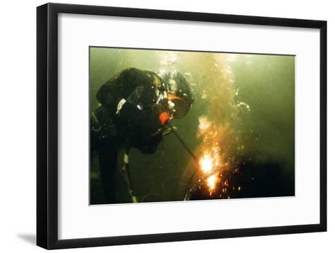 Welding Underwater-Peter Scoones-Framed Art Print