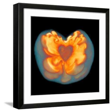 Supernova Explosion-Leonhard Scheck-Framed Art Print