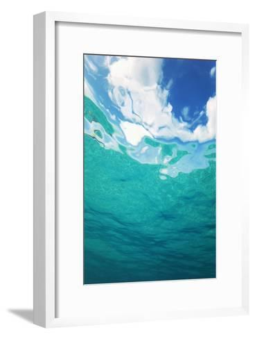 Clouds From Underwater-Peter Scoones-Framed Art Print