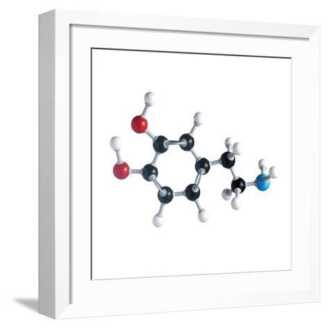 Dopamine Neurotransmitter Molecule-Science Photo Library-Framed Art Print