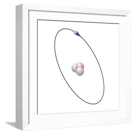 Tritium, Atomic Model-Friedrich Saurer-Framed Art Print