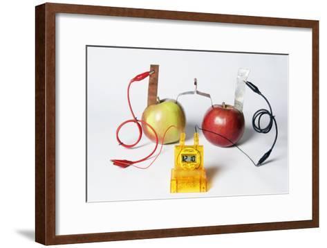 Fruit-powered Clock-Friedrich Saurer-Framed Art Print