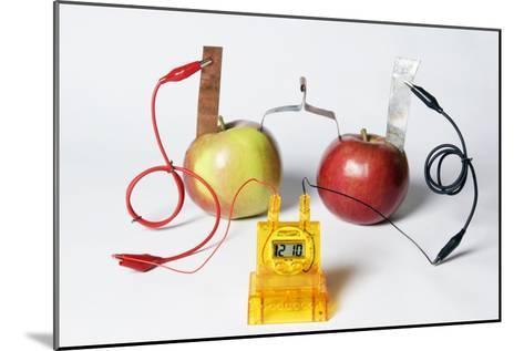 Fruit-powered Clock-Friedrich Saurer-Mounted Photographic Print