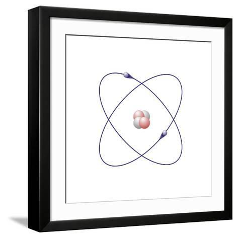 Helium, Atomic Model-Friedrich Saurer-Framed Art Print