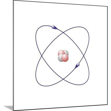Helium, Atomic Model-Friedrich Saurer-Mounted Photographic Print