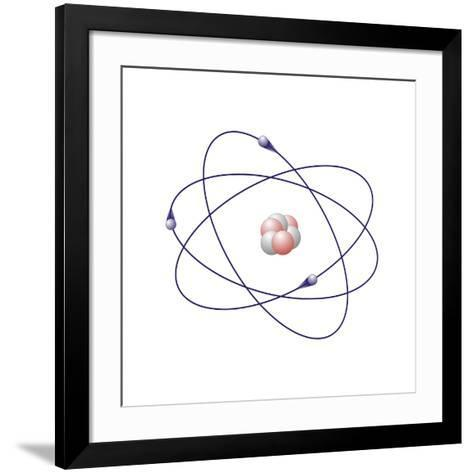 Lithium, Atomic Model-Friedrich Saurer-Framed Art Print