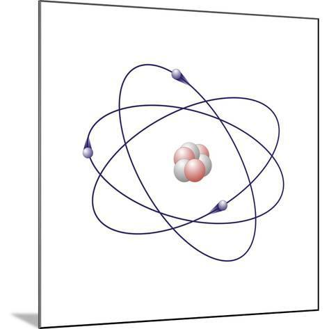 Lithium, Atomic Model-Friedrich Saurer-Mounted Photographic Print