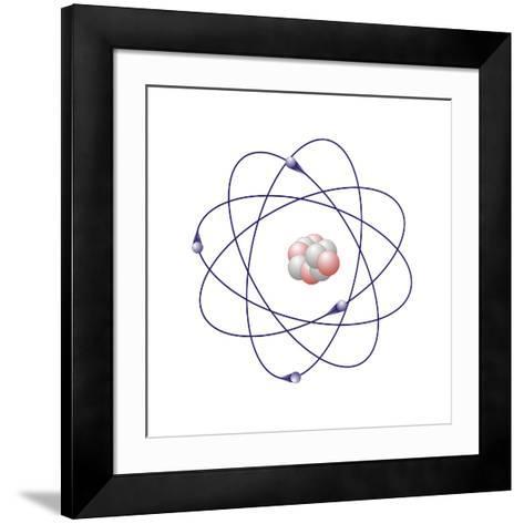 Beryllium, Atomic Model-Friedrich Saurer-Framed Art Print