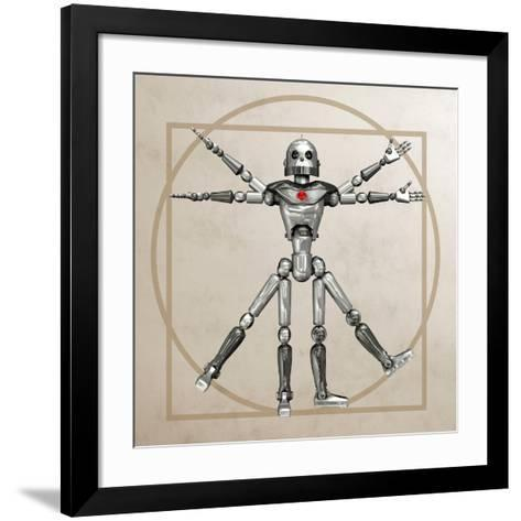 Robot, Artwork-Friedrich Saurer-Framed Art Print
