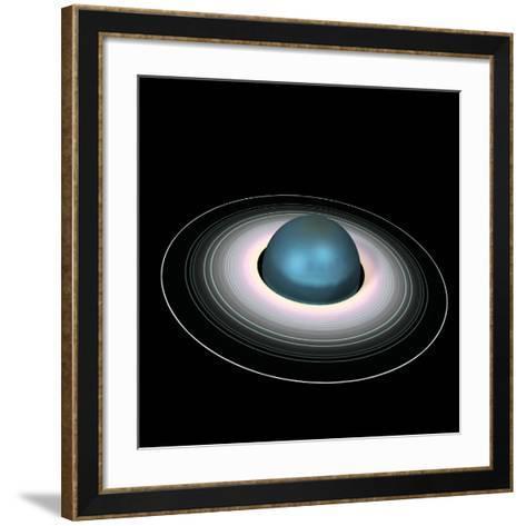 Uranus And Its Rings-Friedrich Saurer-Framed Art Print