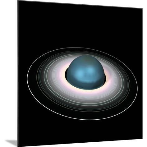 Uranus And Its Rings-Friedrich Saurer-Mounted Photographic Print