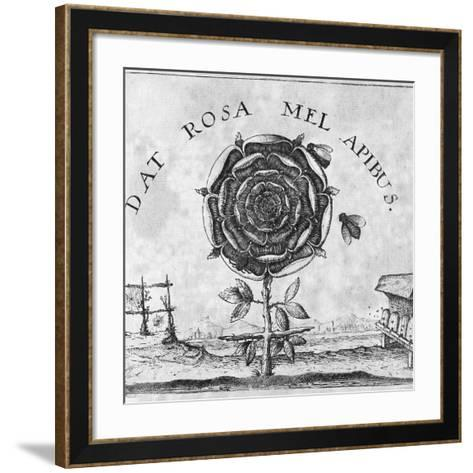 Rosicrucian Mystical Symbol-Middle Temple Library-Framed Art Print