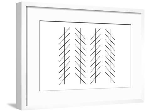 Zoellner Illusion-Science Photo Library-Framed Art Print