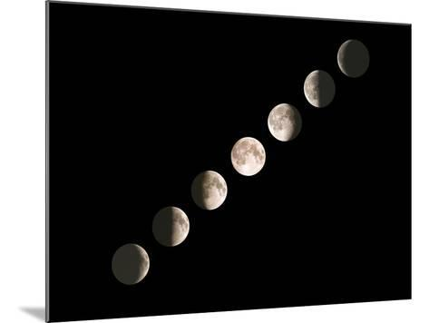 Composite Image of the Phases of the Moon-John Sanford-Mounted Photographic Print